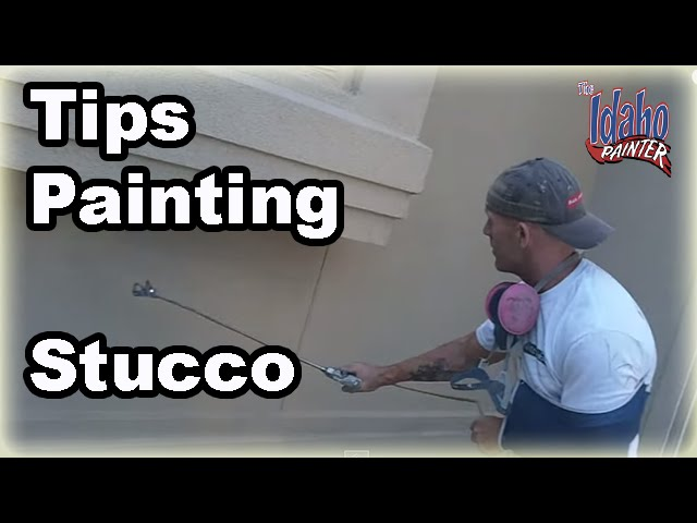 How To Prep Amp Paint Stucco Painting Stucco With A Paint
