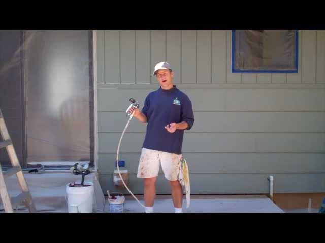 Exterior painting step 7 spray painting the house - How to spray paint your house exterior ...